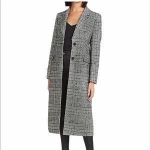 Express Plaid Wool-Blend Car Coat